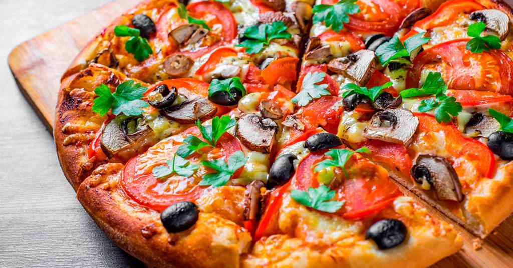 pizza con harina de avena