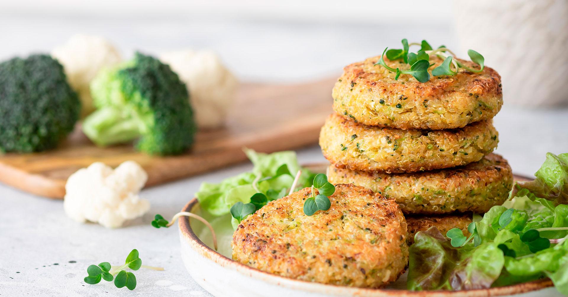 Tortitas de brócoli y avena