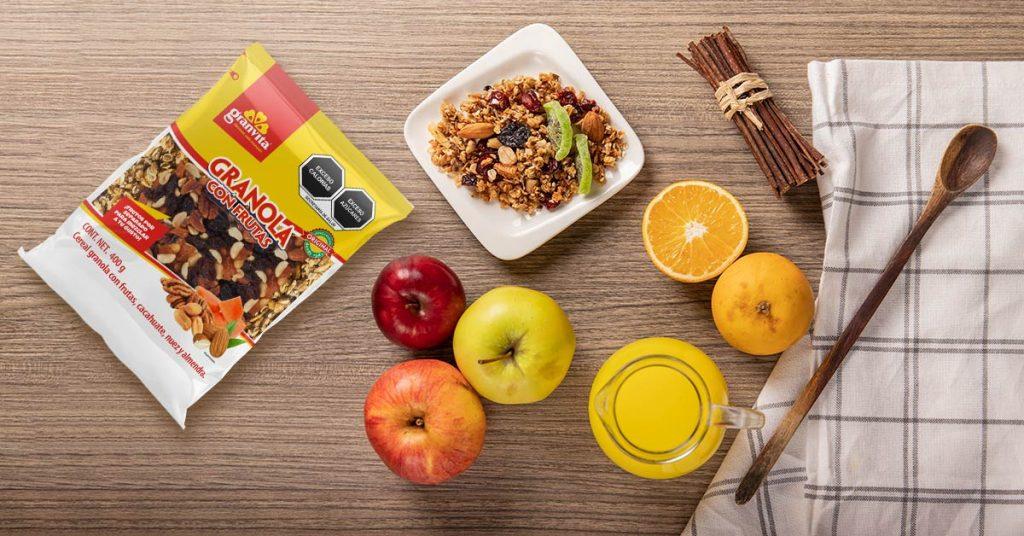 Imagen de granola con frutas Granvita