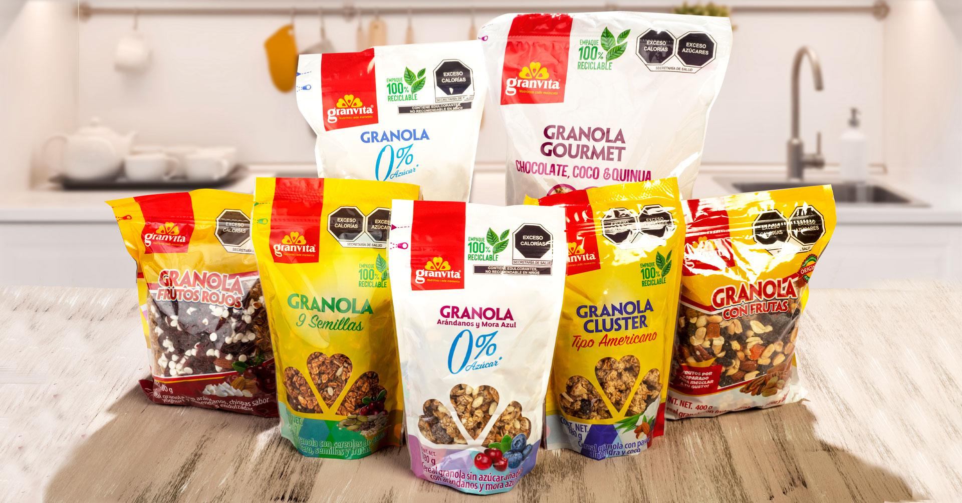 Conoce los ingredientes de las Granolas Granvita y elige tu favorita