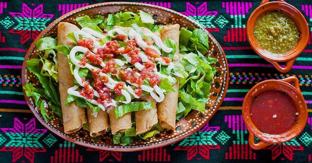 Imagen de tacos dorados de avena