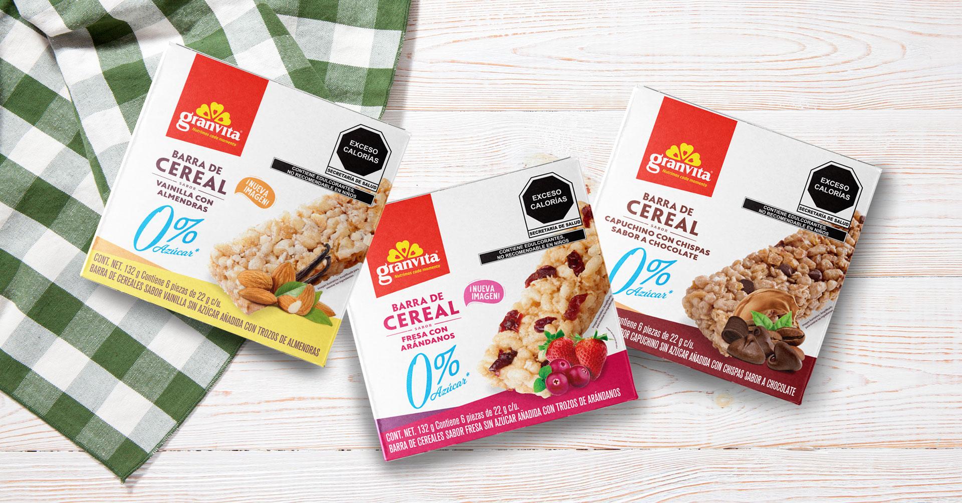 Barras de cereal 0 % Sin Azúcar, un snack para disfrutar en cada momento