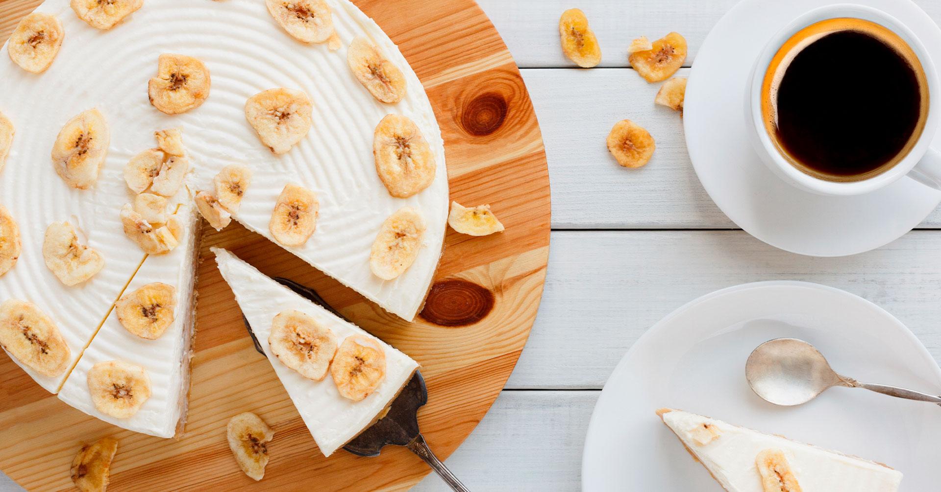 Cheesecake de plátano
